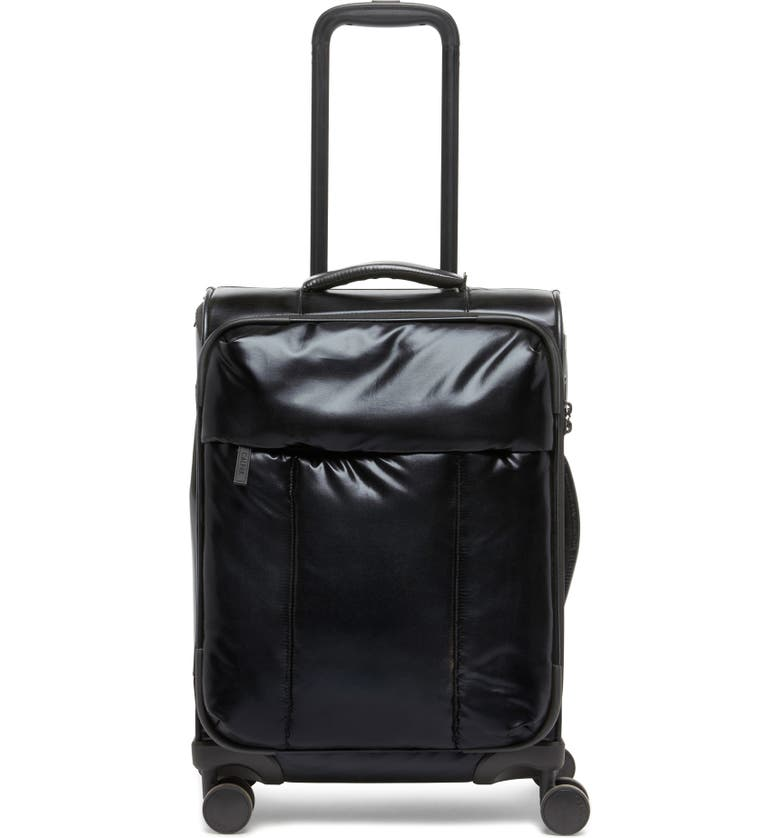 CALPAK 21-Inch Soft Side Spinner Carry-On Suitcase, Main, color, BLACK