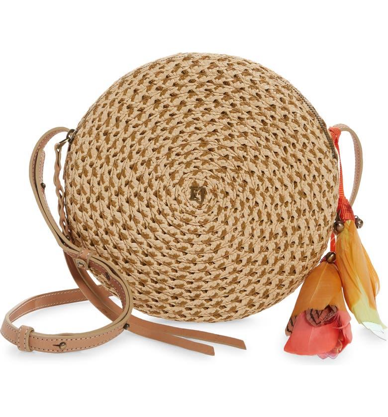 ERIC JAVITS Squishee<sup>®</sup> Bali Crossbody Bag, Main, color, PEANUT MIX