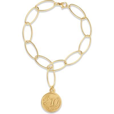 Ellie Vail Lizzie Coin Pendant Bracelet