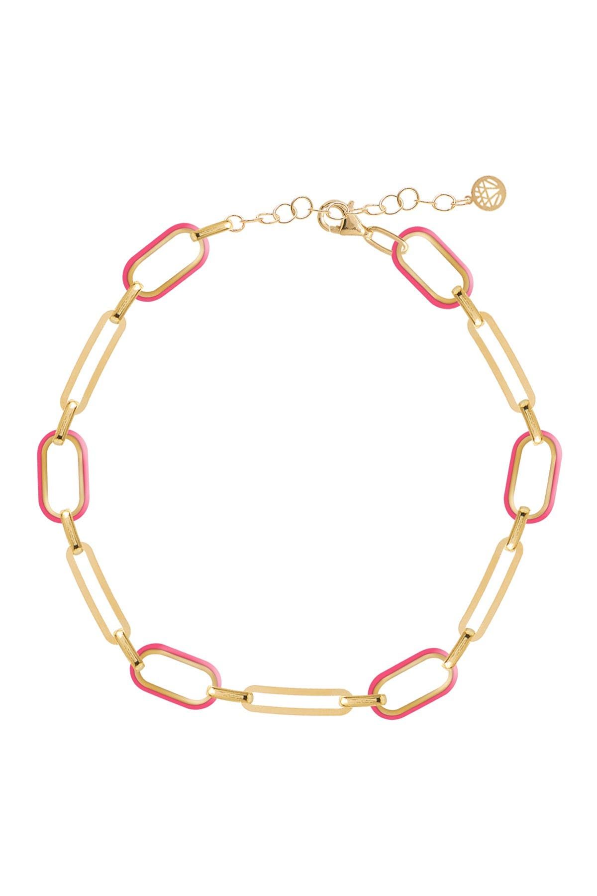 Image of Gabi Rielle 14K Gold Plated Soft Serve Neon Pink Box Chain Anklet
