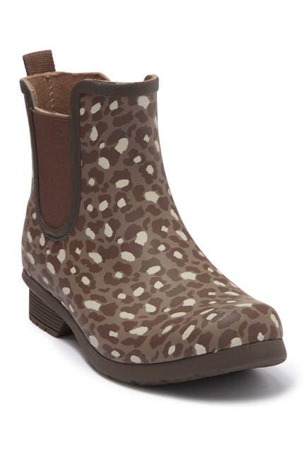 Image of Chooka Leopard Print Chelsea Rain Boot