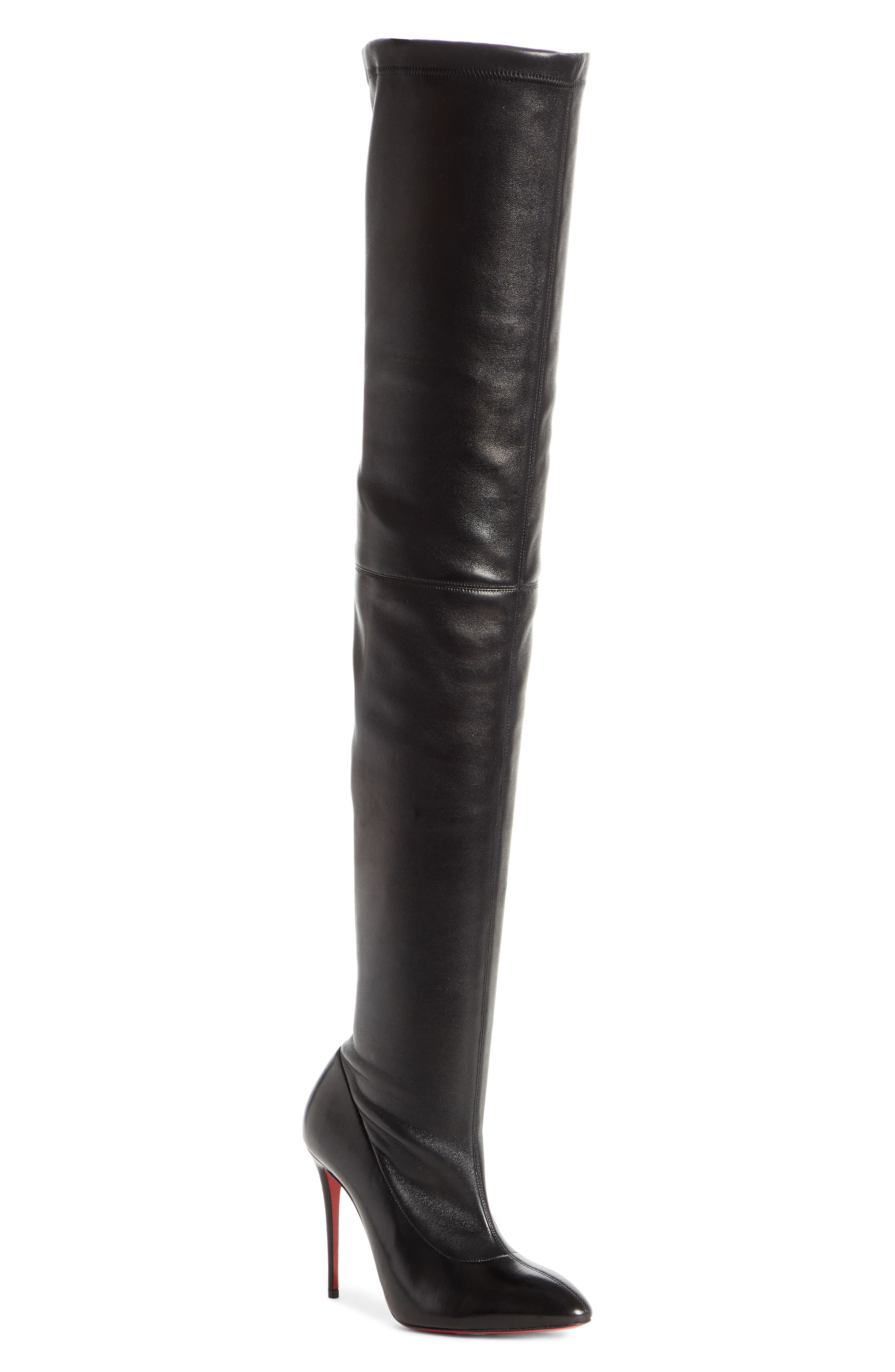 Christian Louboutin Elouix Over The Knee Boot, Black
