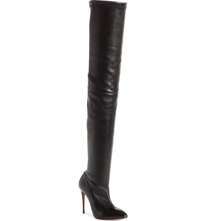 CHRISTIAN LOUBOUTIN Elouix Over the Knee Boot, Main, color, BLACK