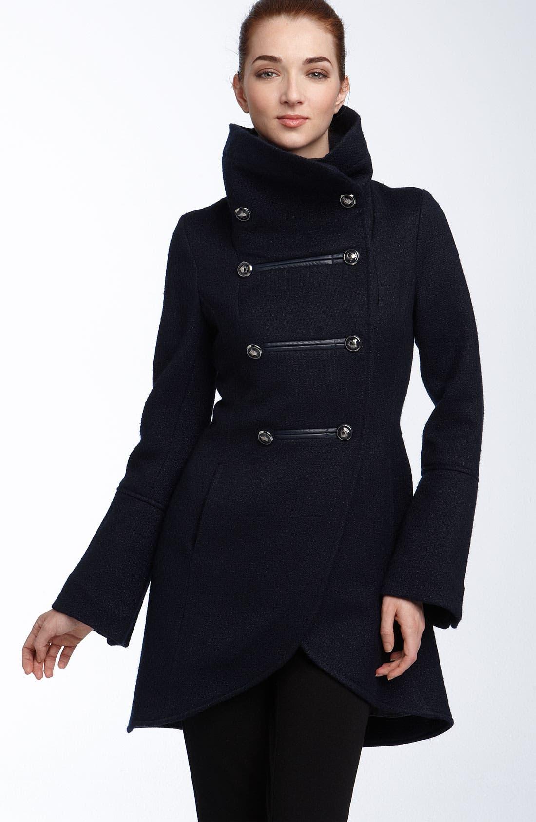 ,                             'Diana' Military Inspired Wool Blend Coat,                             Main thumbnail 3, color,                             404