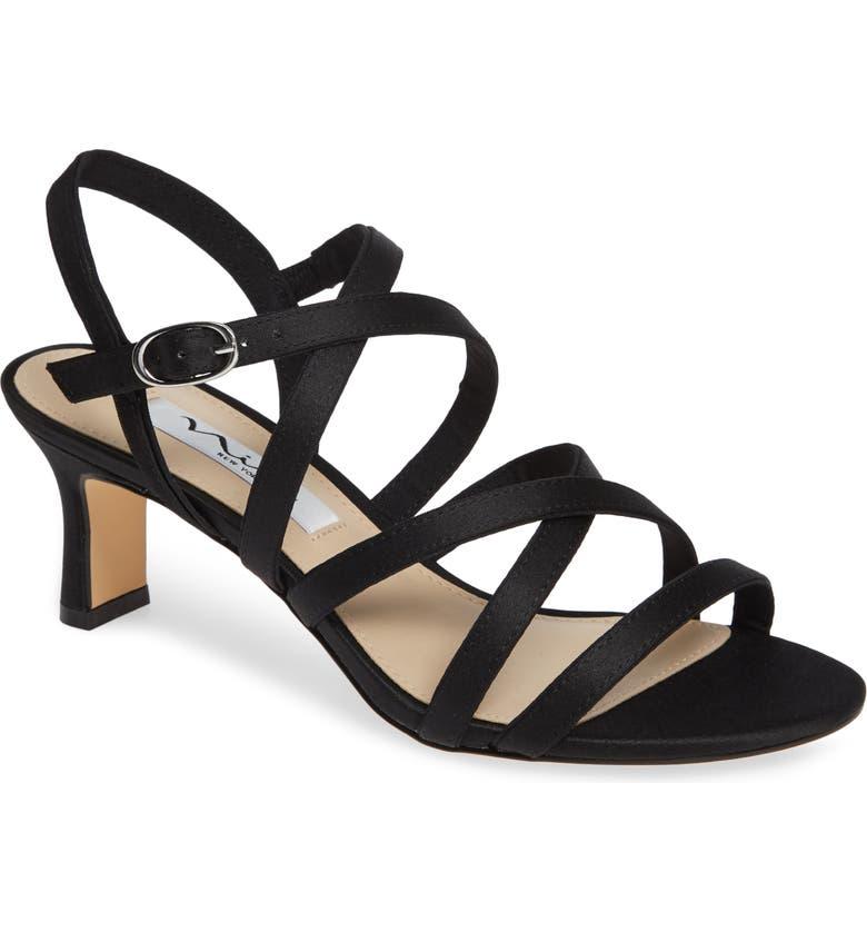 NINA Genaya Strappy Evening Sandal, Main, color, 001