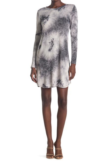 Image of TASH + SOPHIE Long Sleeve Tie Dye Sweater Dress