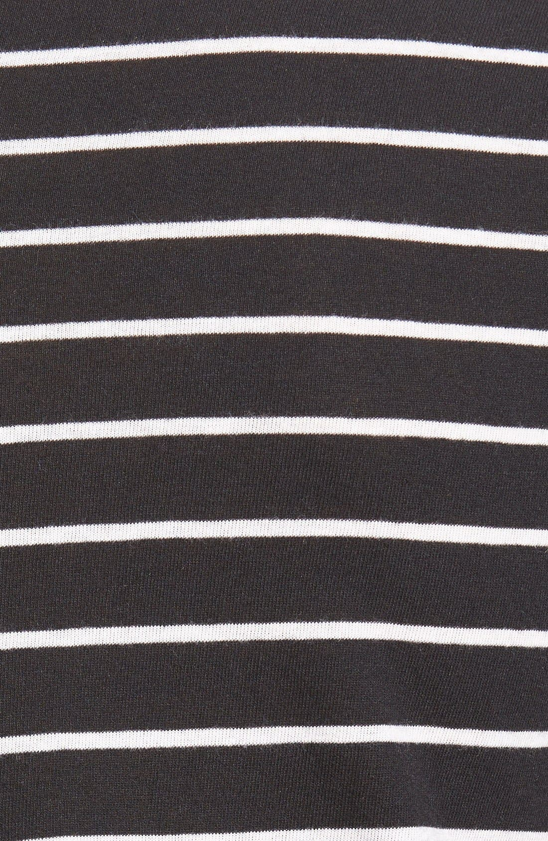 ,                             Stripe High/Low Tee,                             Alternate thumbnail 5, color,                             001
