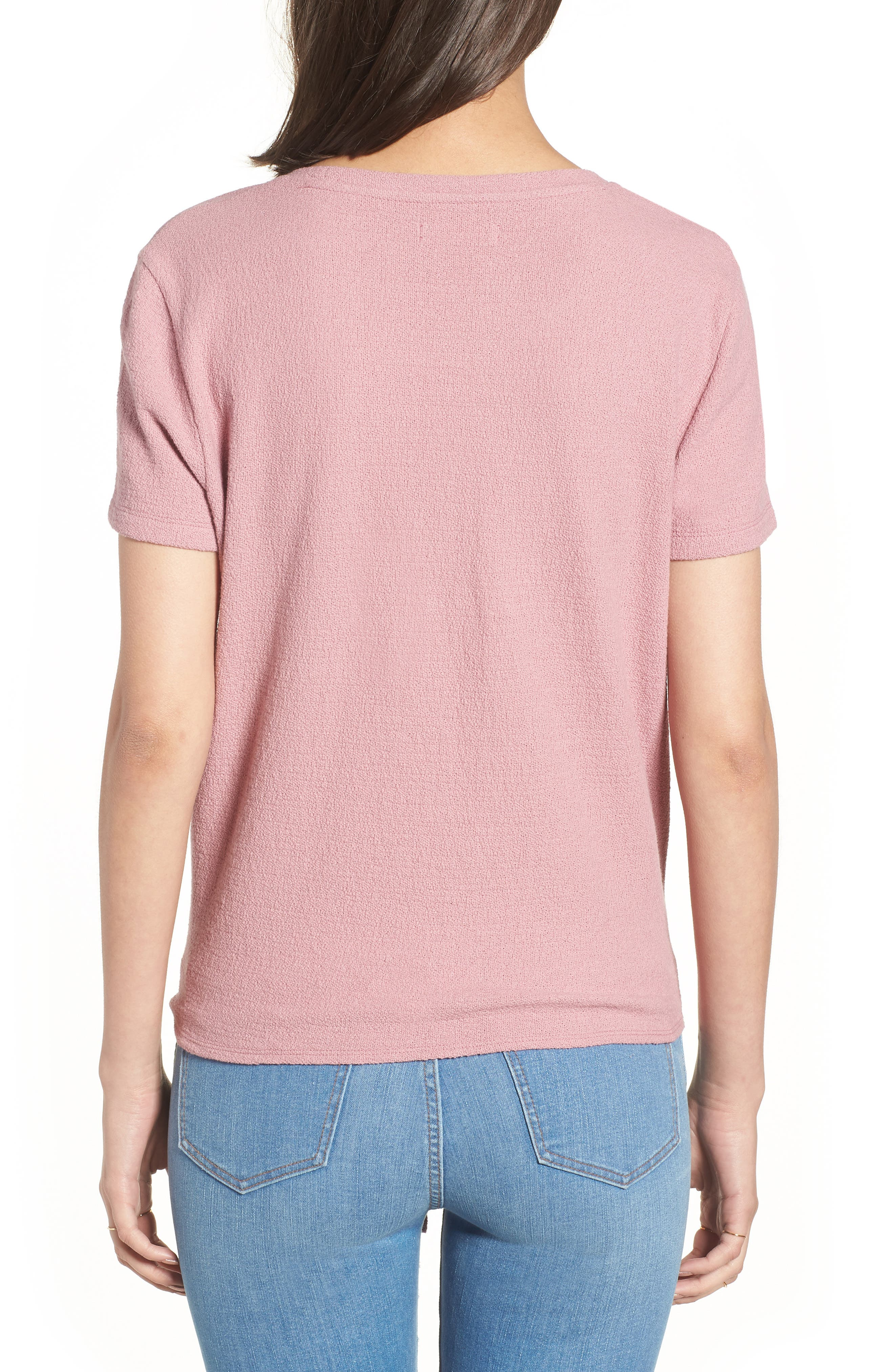 ,                             Modern Tie Front Tee,                             Alternate thumbnail 11, color,                             651
