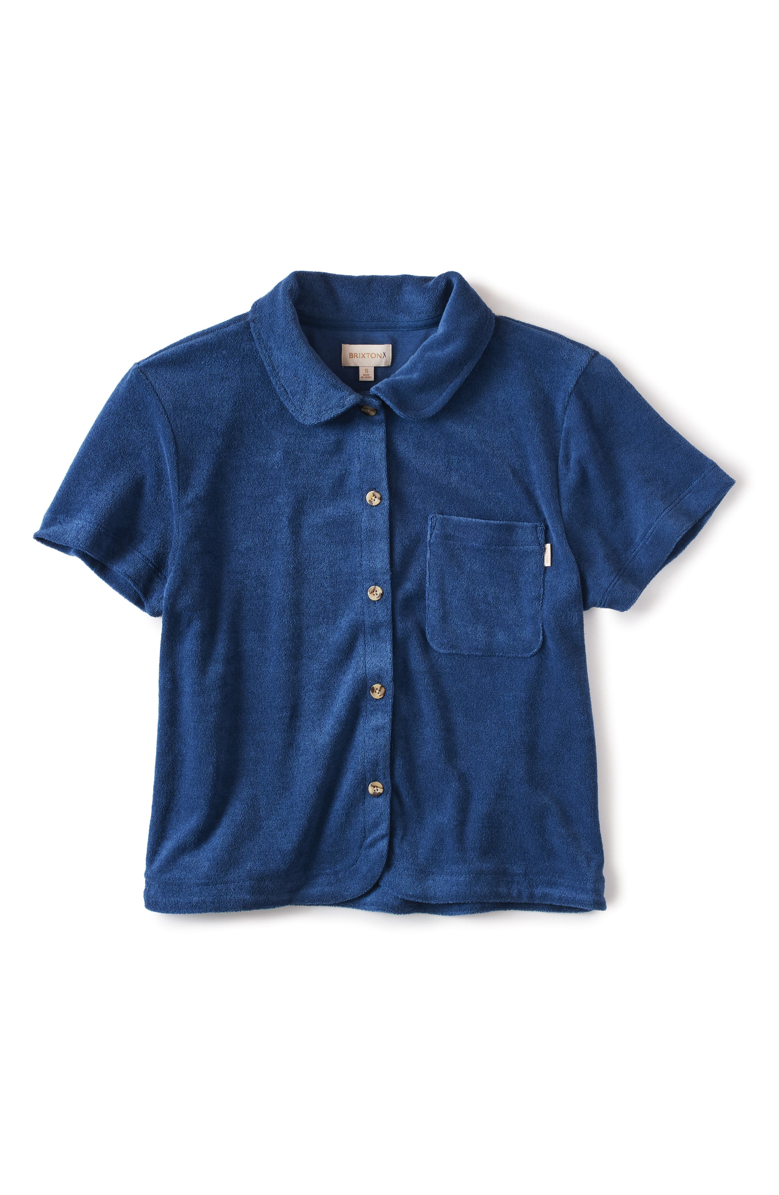 Marquee Terry Cloth Button-Up Shirt