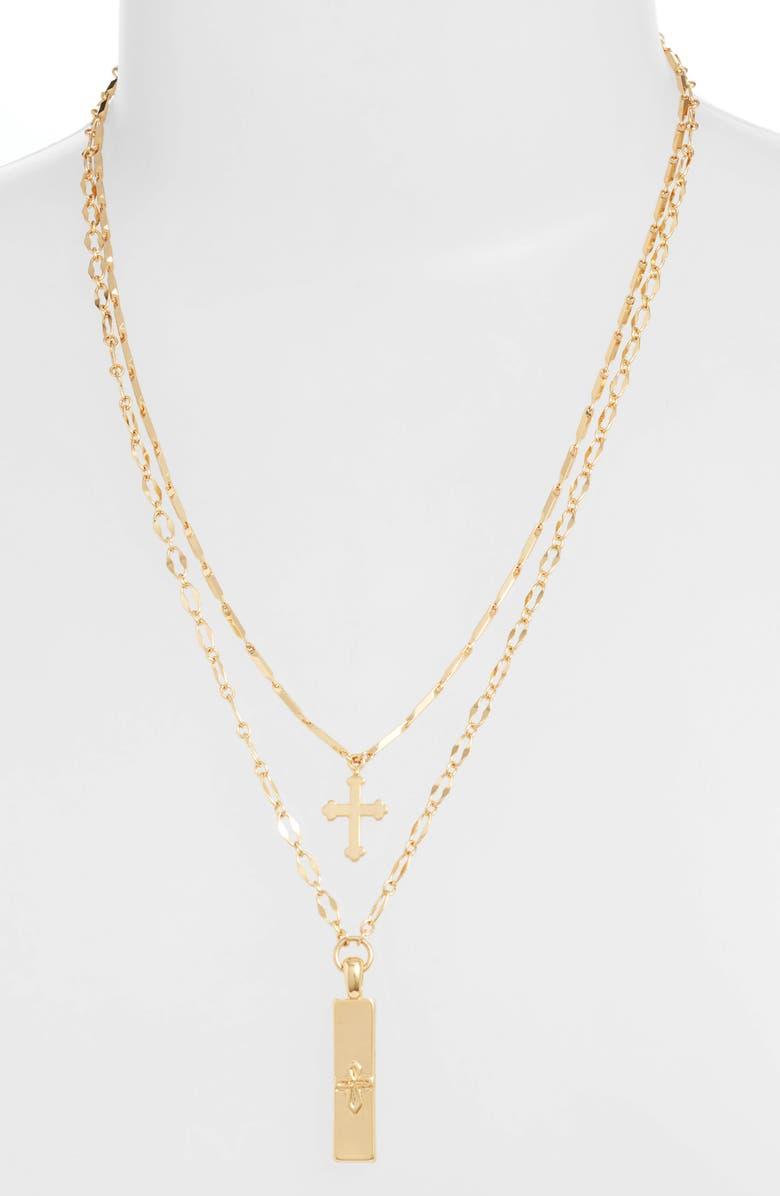 Ettika Set Of 2 Cross Pendant Necklaces