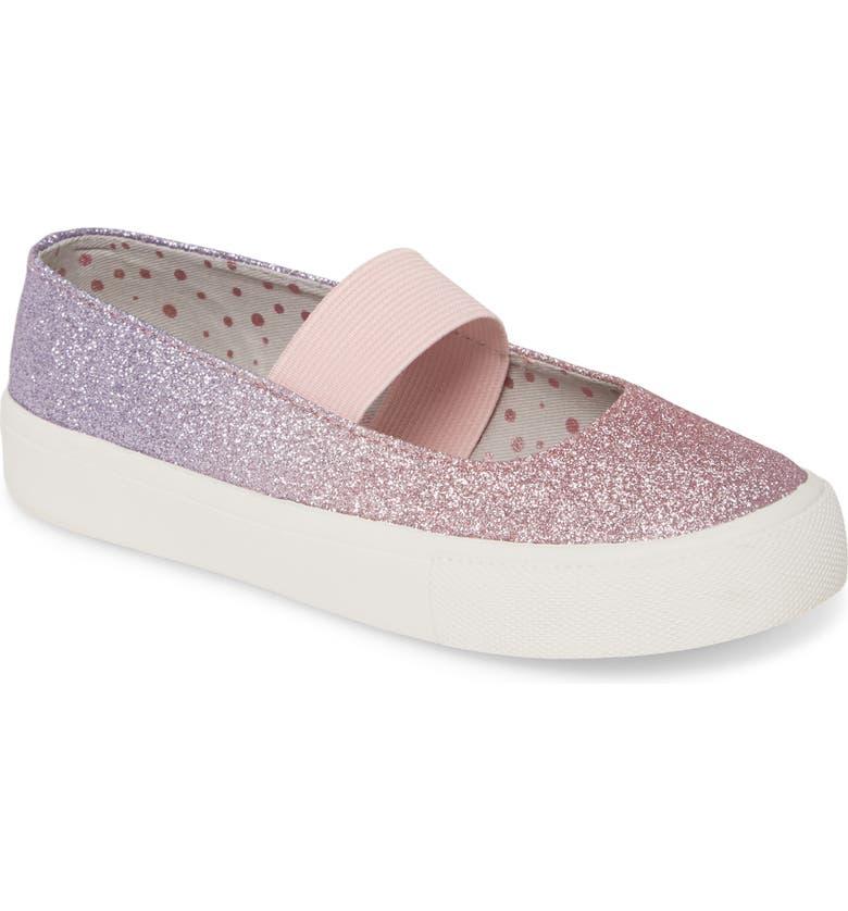 TUCKER + TATE Ombré Glitter Sneaker, Main, color, PINK MULTI GLITTER PU