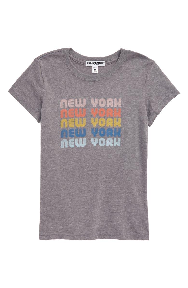 SUB_URBAN RIOT New York Tee, Main, color, HEATHER GRAY/ MULTI GRAPHIC