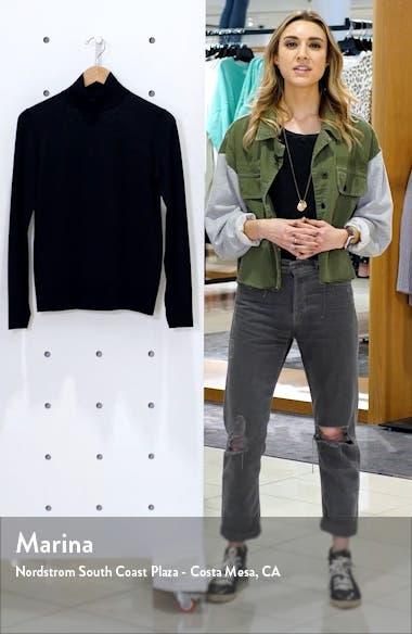 Split Detail Mock Neck Wool Sweater, sales video thumbnail