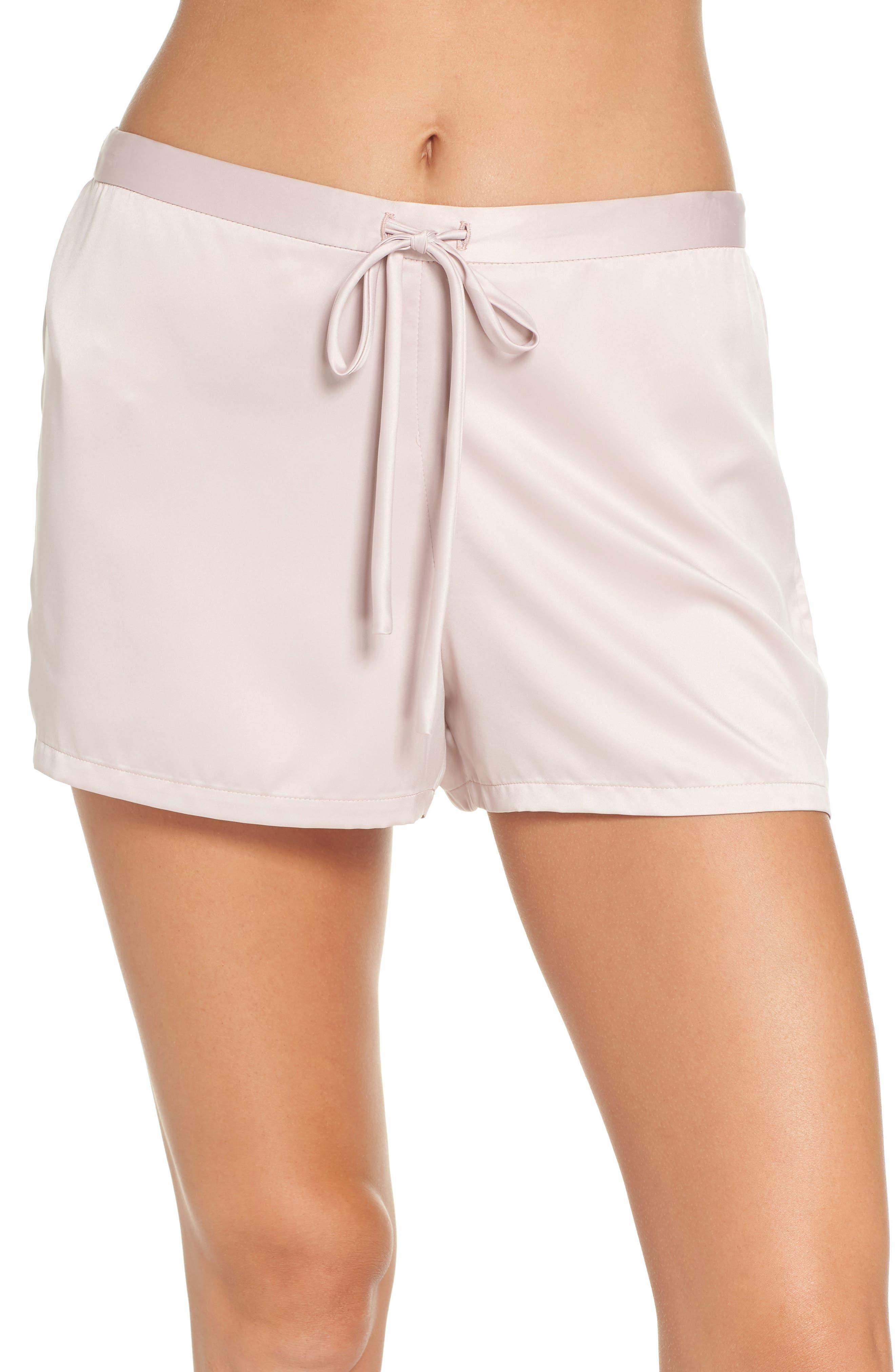 Natori Satin Elements Pajama Shorts, Pink