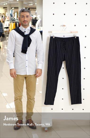 Skinny Fit Pinstripe Stretch Jogger Pants, sales video thumbnail