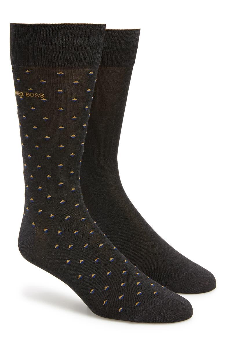 BOSS 2-Pack Dot Socks, Main, color, 022