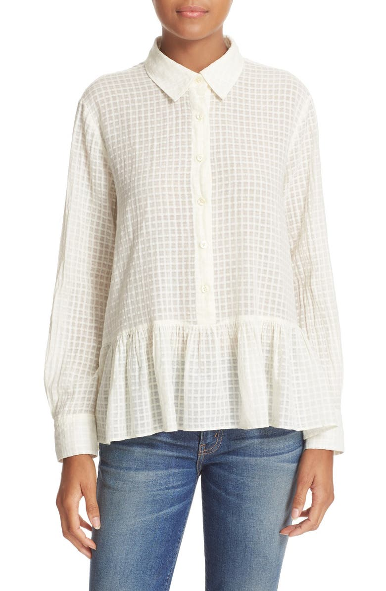 c124185d68 THE GREAT. The Ruffle Oxford Shirt | Nordstrom
