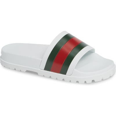 Gucci Slide Sandal, White
