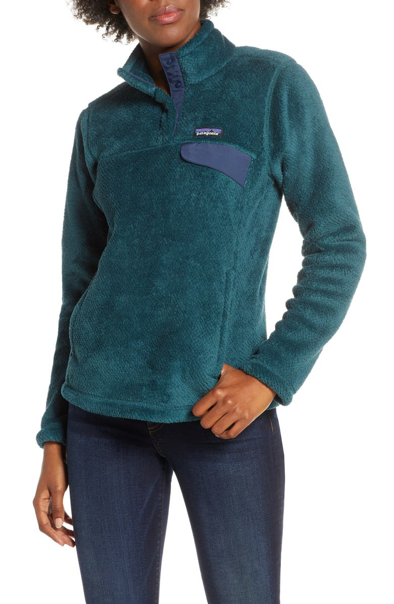 PATAGONIA Re-Tool Snap-T<sup>®</sup> Fleece Pullover, Main, color, PIKI GRN-DK PIKI GRN X-DYE