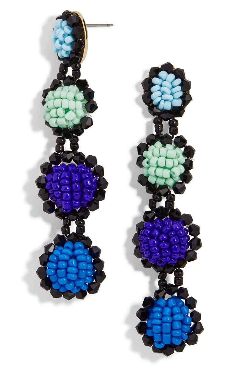 BAUBLEBAR Rosalind Beaded Drop Earrings, Main, color, BLUE
