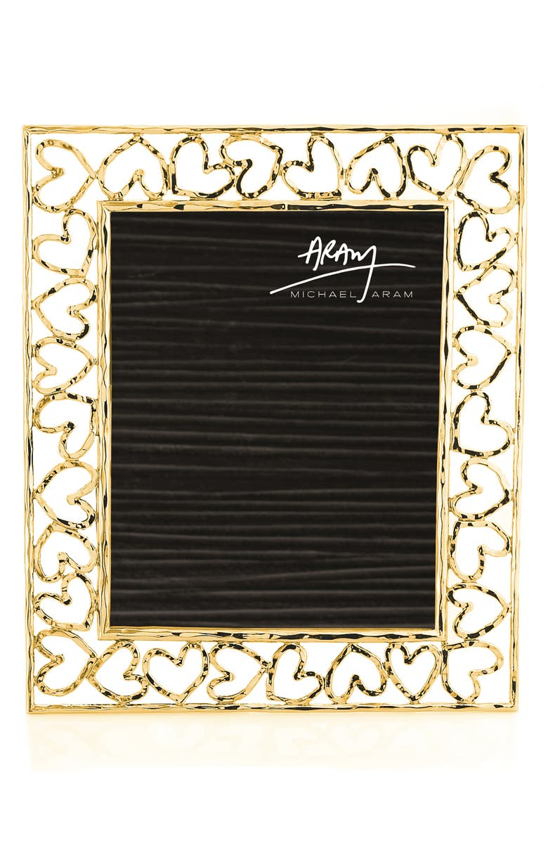 MICHAEL ARAM Heart Picture Frame, Main, color, GOLD - LARGE