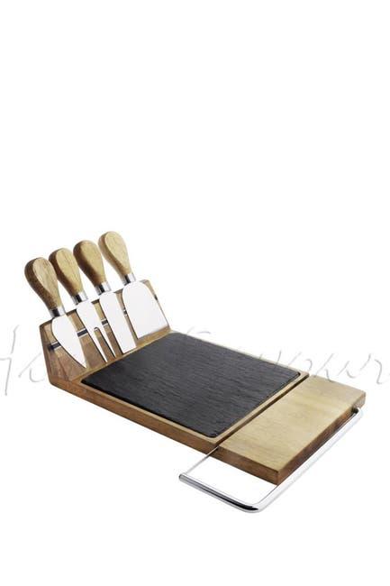 Image of NutriChef Bamboo Food Serving & Food Slicer Platter