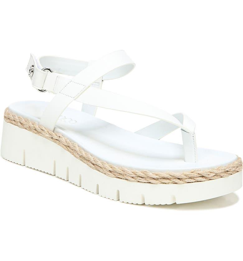 FRANCO SARTO Jinxy Platform Sandal, Main, color, WHITE LEATHER