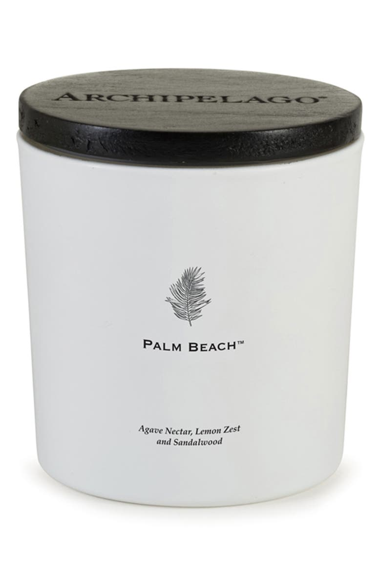 ARCHIPELAGO BOTANICALS Palm Beach Luxe Candle, Main, color, PALM BEACH
