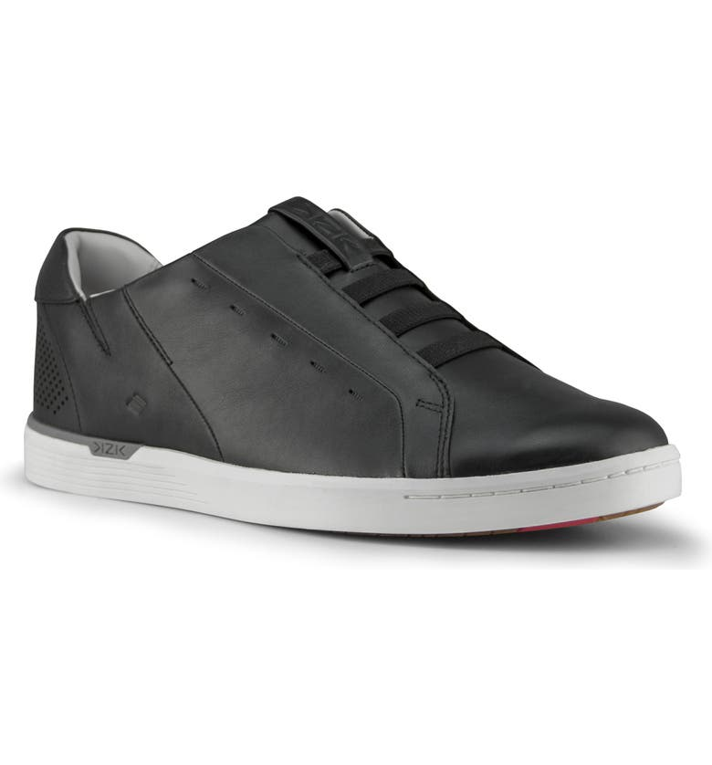 KIZIK New York Slip-On Sneaker, Main, color, BLACK LEATHER