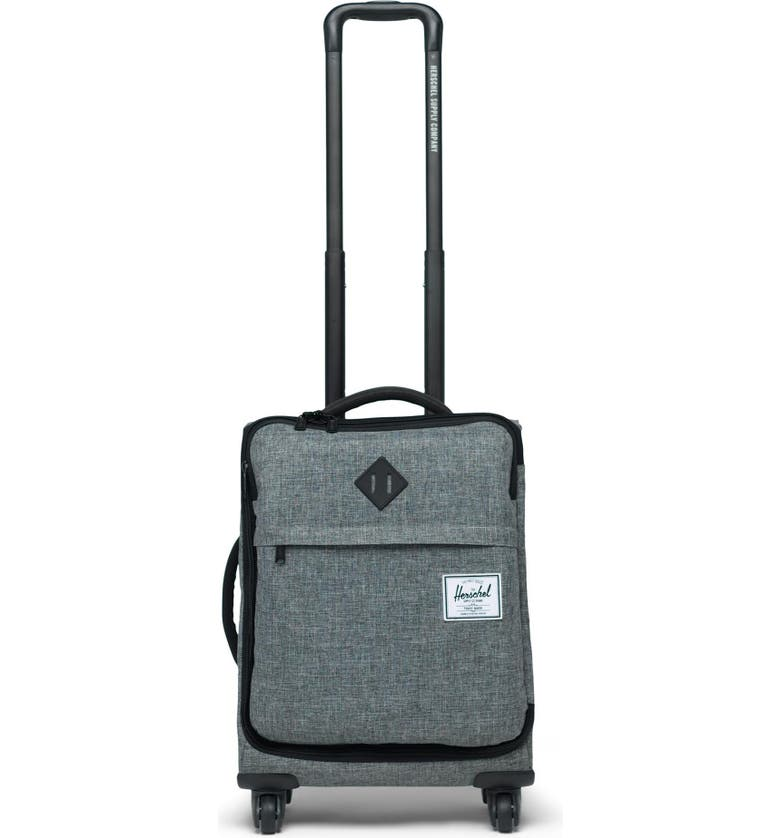 HERSCHEL SUPPLY CO. Highland 22-Inch Spinner Carry-On, Main, color, RAVEN CROSSHATCH