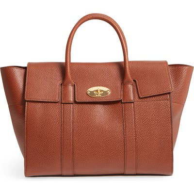 Mulberry Bayswater Calfskin Leather Satchel - Brown