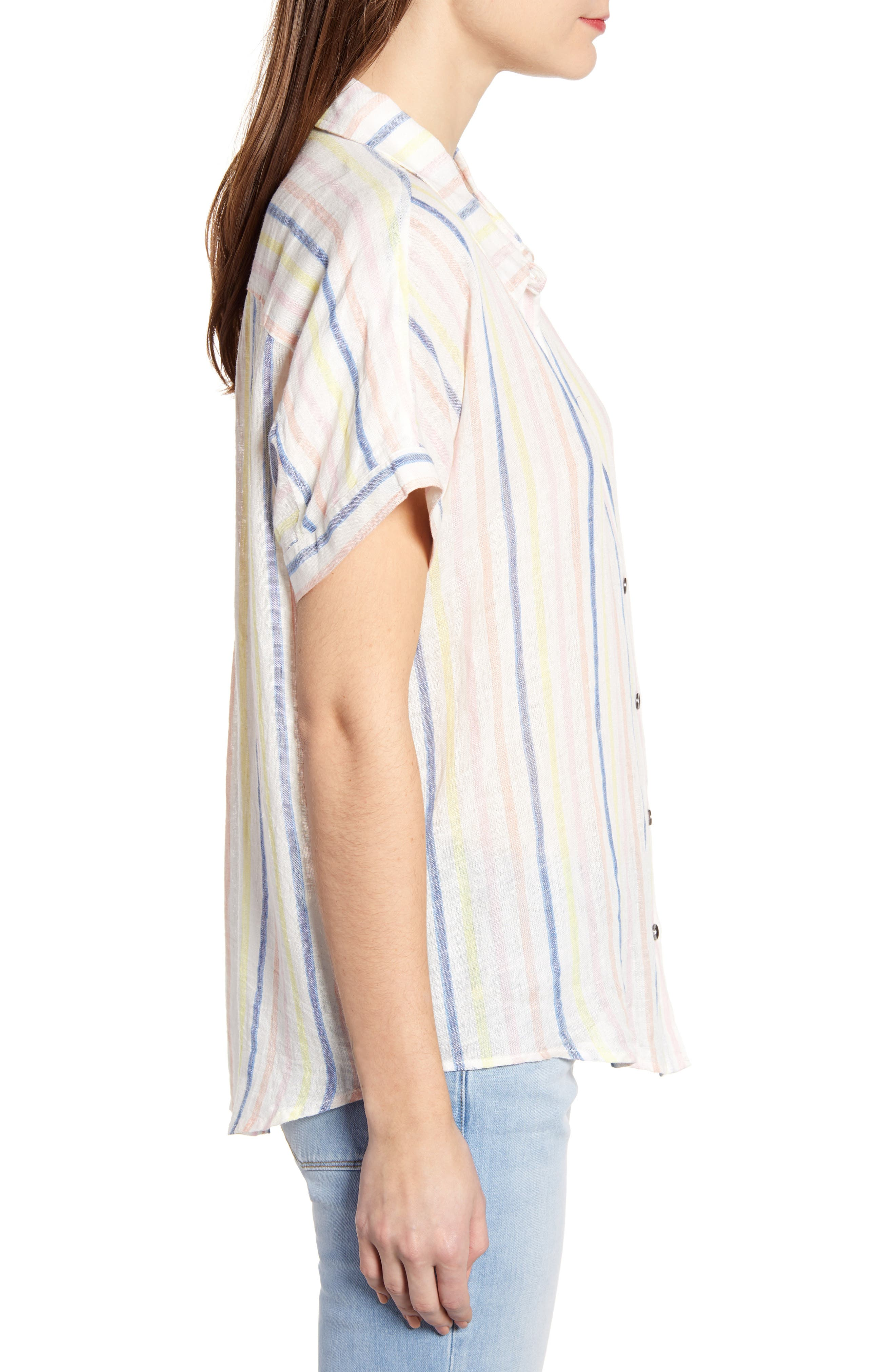 ,                             Picnic Stripe Shirt,                             Alternate thumbnail 3, color,                             NATURAL