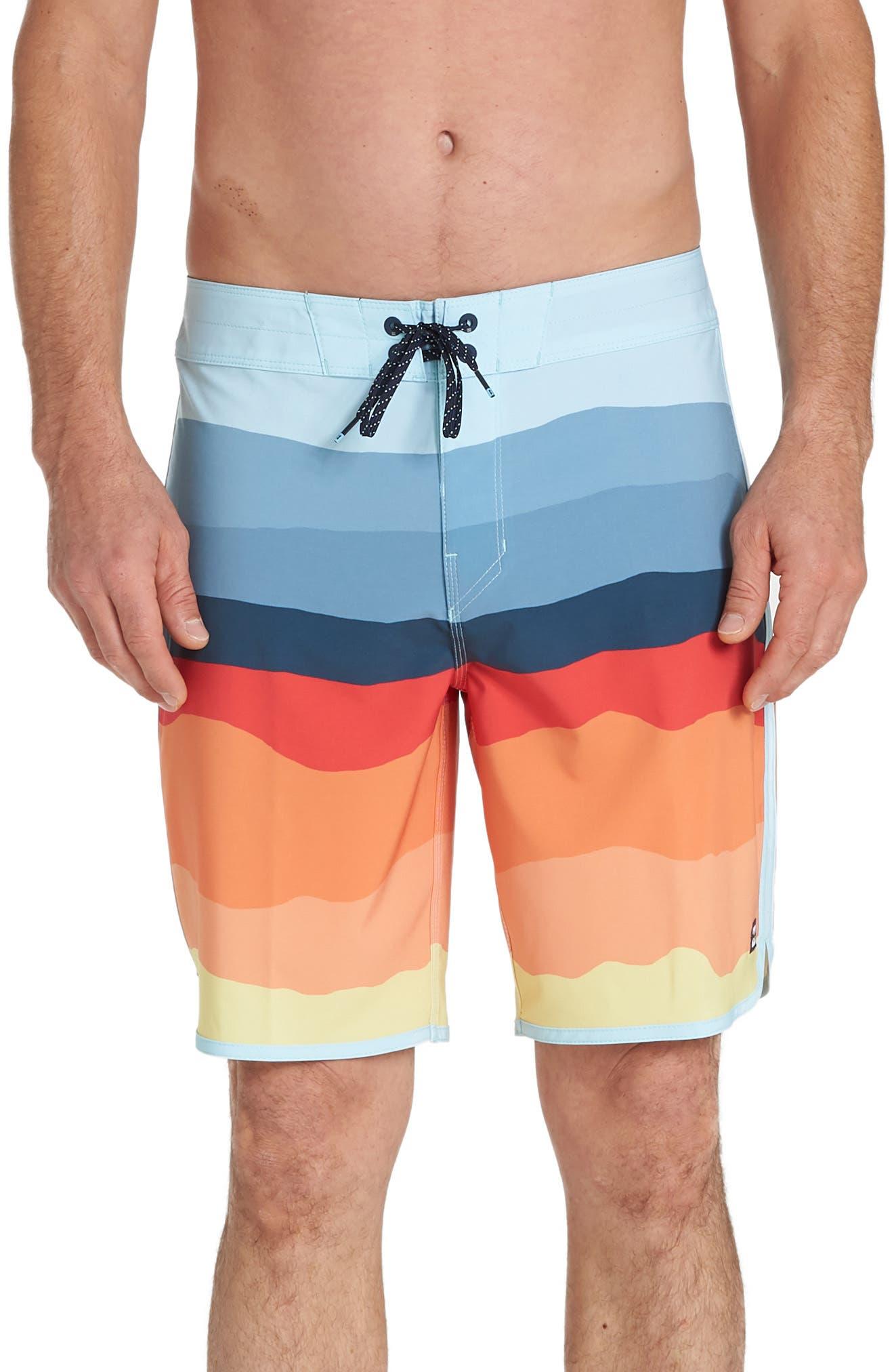 Billabong 73 Line Up Pro Board Shorts, Orange