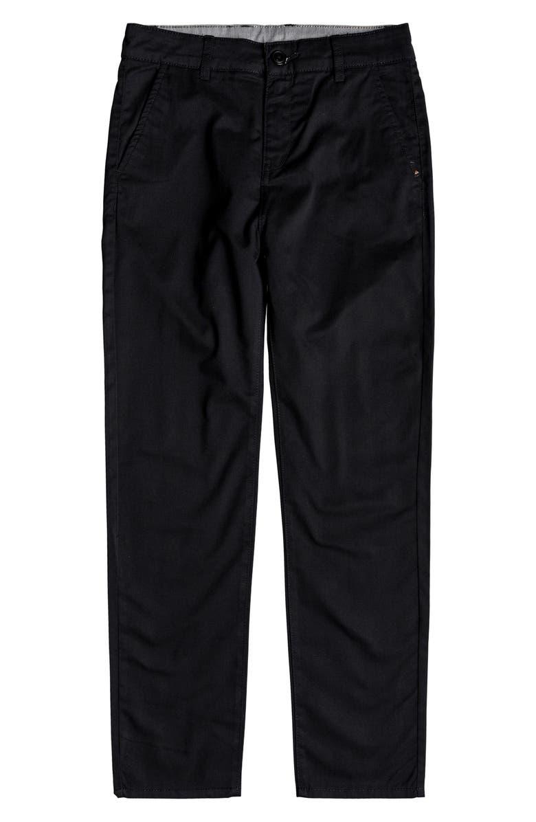 QUIKSILVER Everyday Union Straight Leg Pants, Main, color, BLACK
