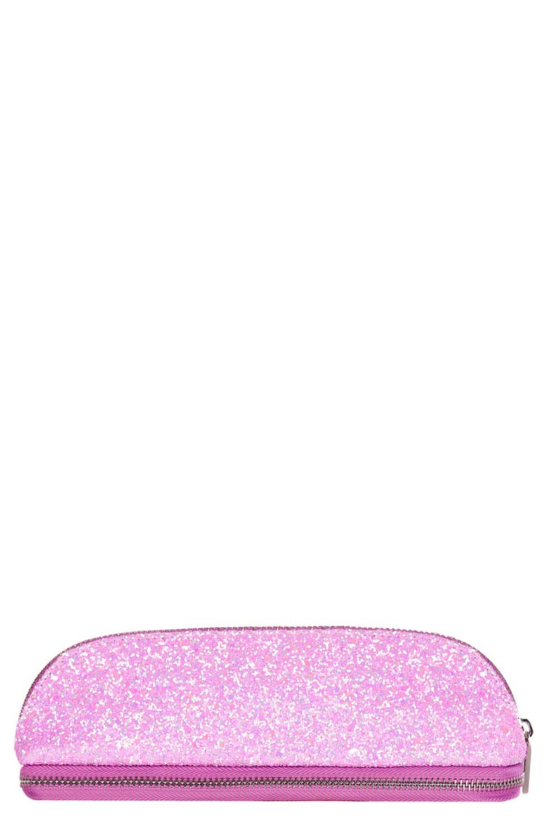 SKINNYDIP Glitsy Pink Makeup Brush Cosmetics Case, Main, color, NO COLOR