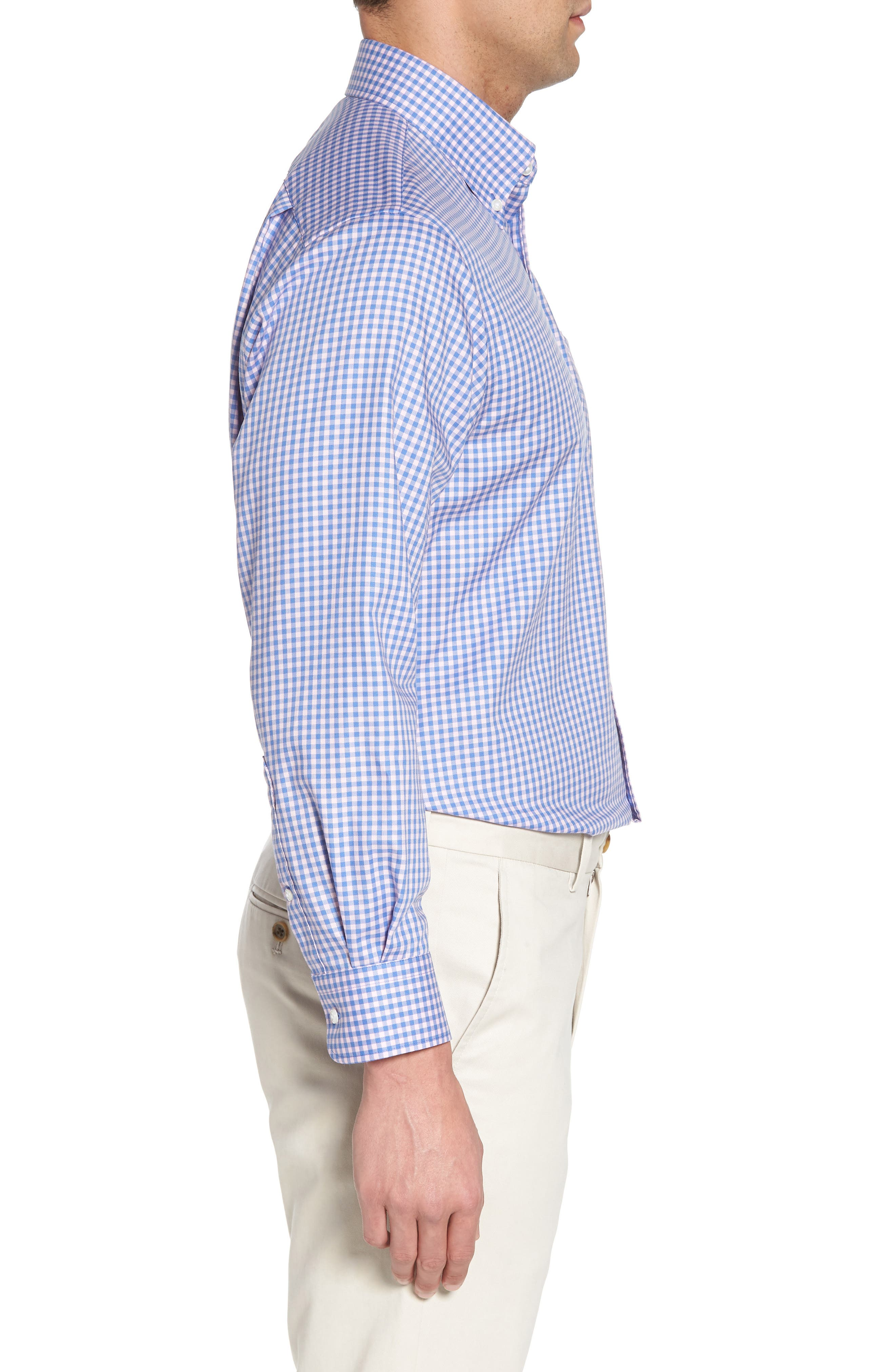 ,                             Traditional Fit Non-Iron Gingham Dress Shirt,                             Alternate thumbnail 30, color,                             650