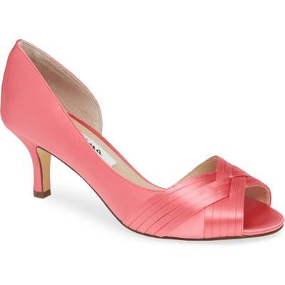 Nina Contesa Open Toe Pump- Pink