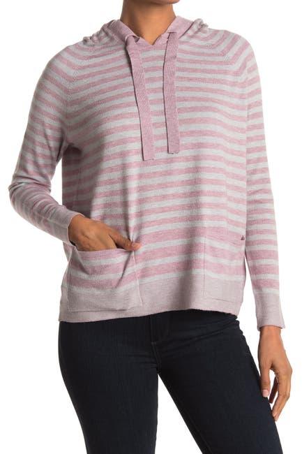 Image of Cyrus Stripe Print Knit Hoodie
