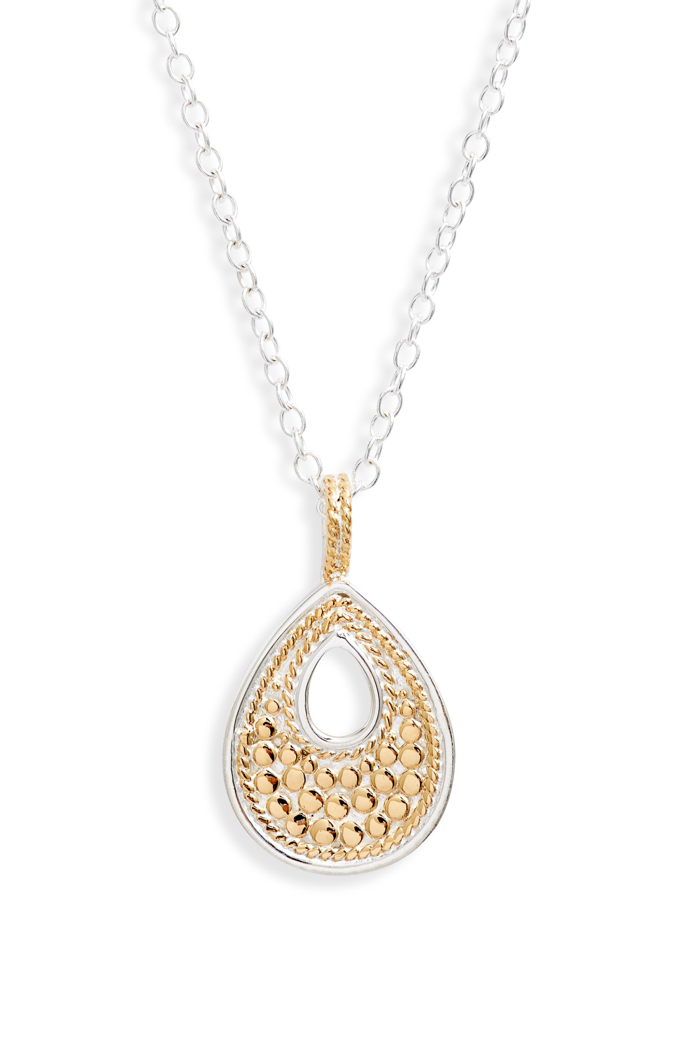 Small Reversible Teardrop Pendant Necklace (Nordstrom Exclusive)