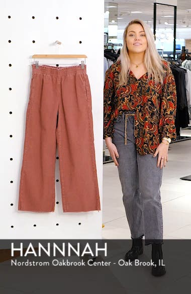 Paperbag Waist Corduroy Trousers, sales video thumbnail