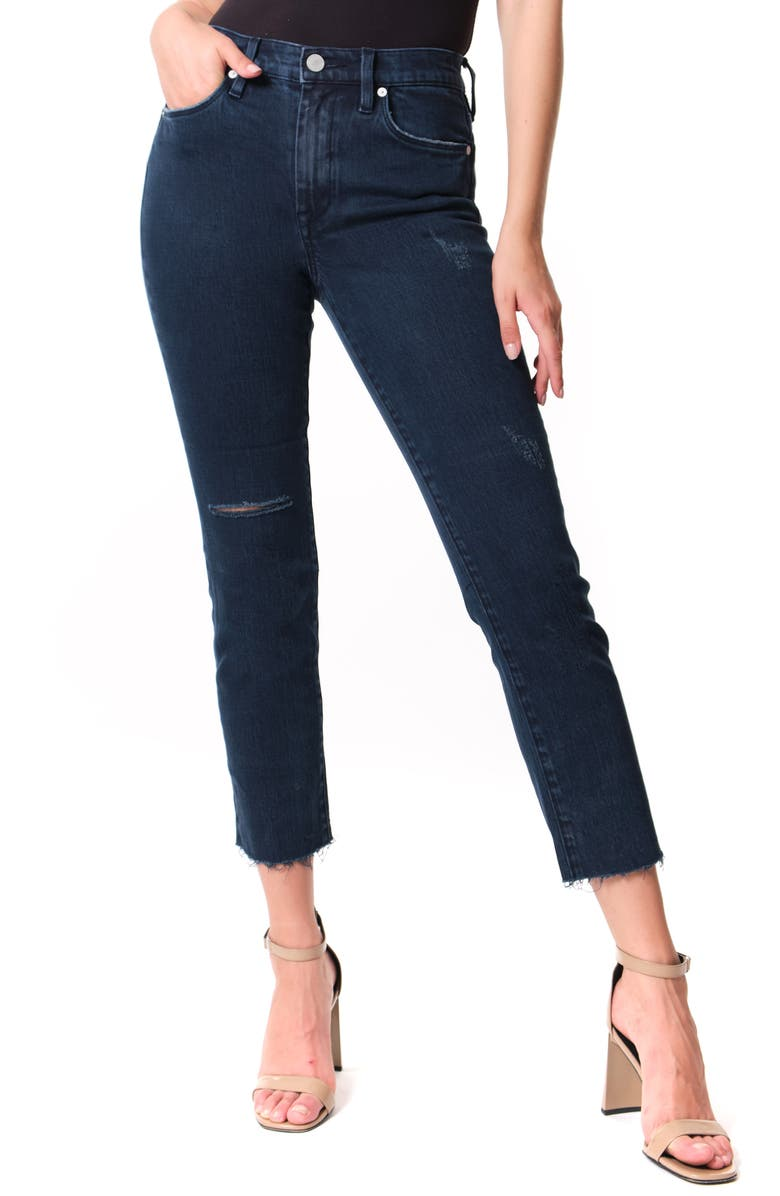 BLANKNYC The Madison Ripped Straight Leg Jeans, Main, color, ON A ROLL