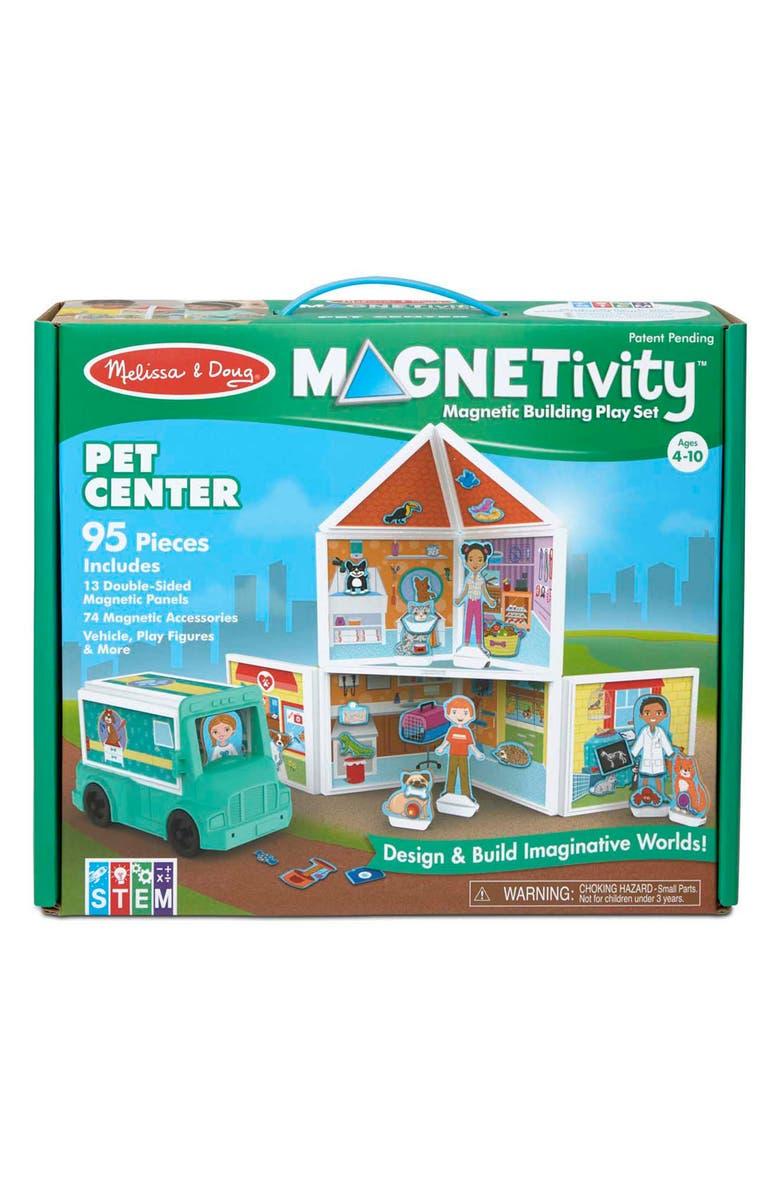 MELISSA & DOUG Magnetivity Pet Center Magnet Building Play Set, Main, color, MULTI