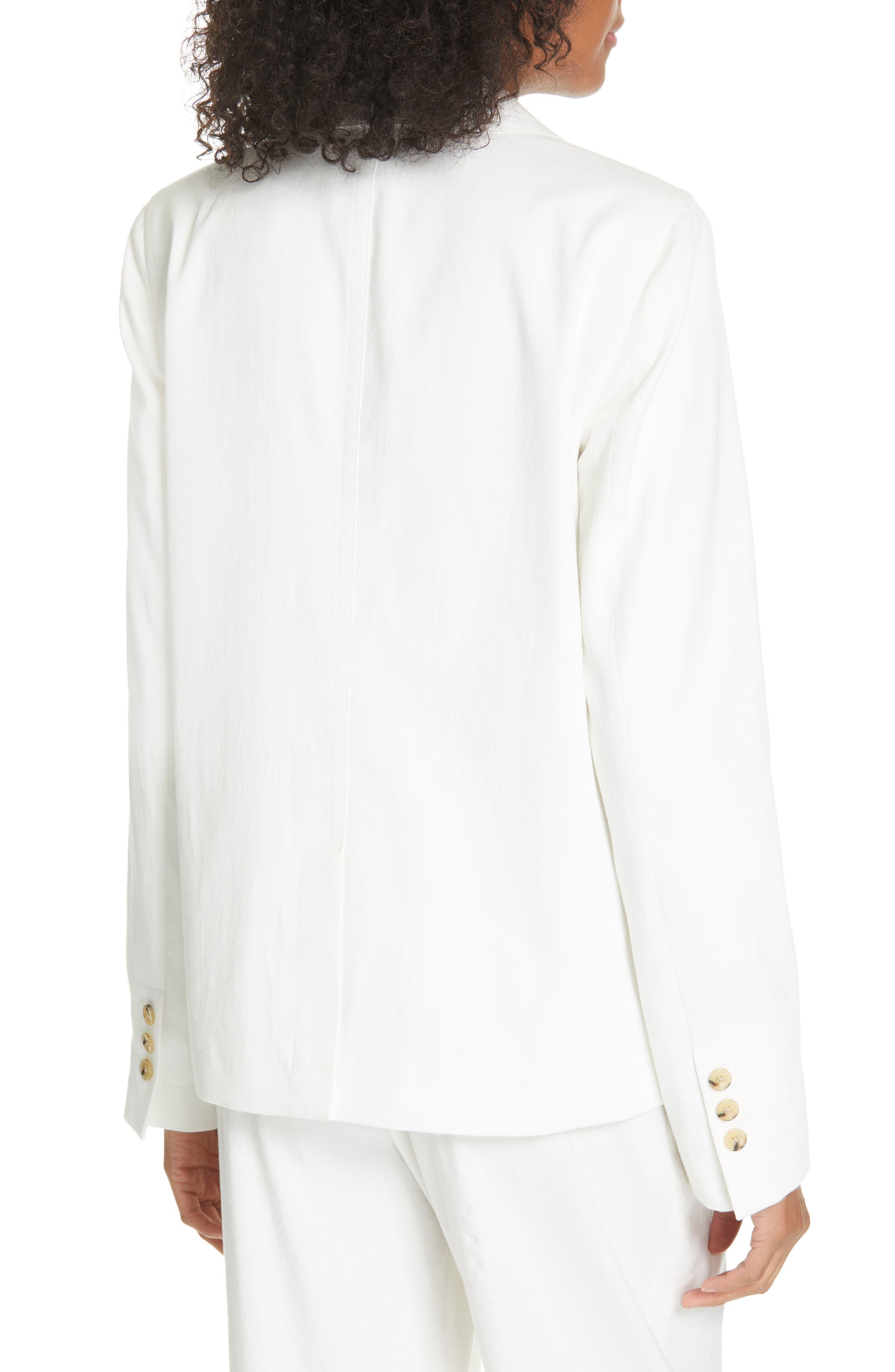 ,                             Cotton & Linen Blend Jacket,                             Alternate thumbnail 2, color,                             OFF WHITE
