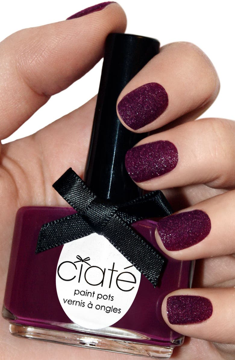 CIATÉ 'Velvet Manicure - Berry Poncho' Set, Main, color, 500