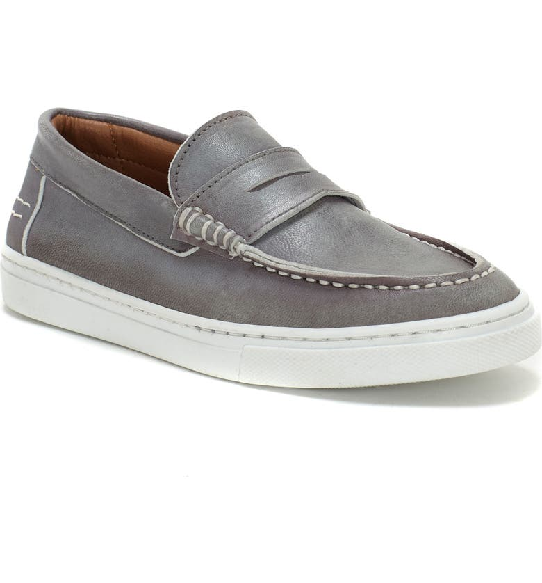 VINCE CAMUTO Penny Loafer, Main, color, LIGHT GREY