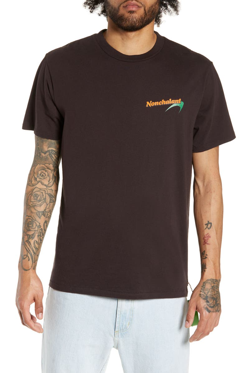 PASADENA LEISURE CLUB Nonchalant T-Shirt, Main, color, FADED BLACK