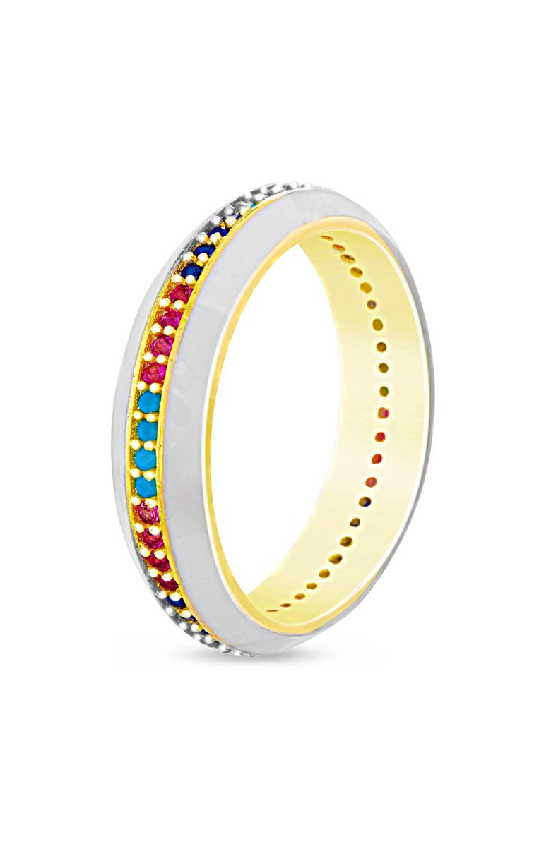 LESA MICHELE Studded Band Ring, Main, color, 710