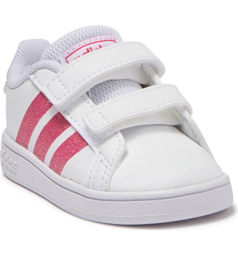 ADIDAS Grand Court Sneaker, Main, color, FTWWHT/REA