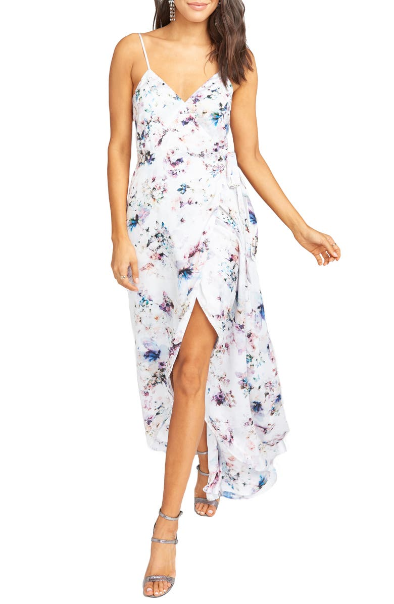 SHOW ME YOUR MUMU Mariah Wrap Gown, Main, color, 100