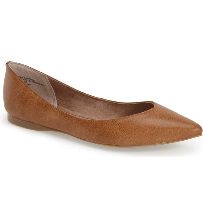BP. 'Moveover' Pointy Toe Flat, Main, color, 235